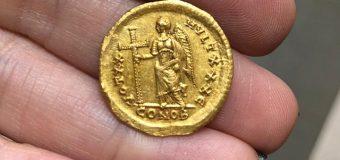 В Израиле впервые найден золотой солид императора, распустившего Синедрион